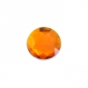 Cabouchons Acrylic 13mm Round Facet Orange
